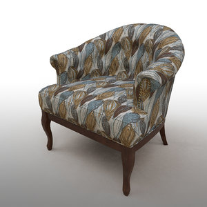 tufted seat 3D