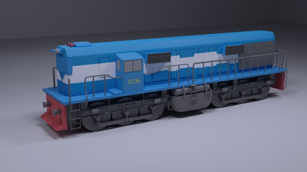 train modeled 3D