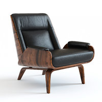 west elm paulo leather chair 3D model