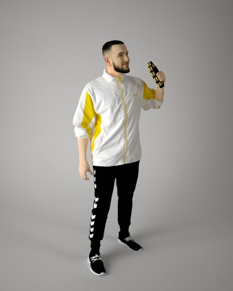 musician character 3D model