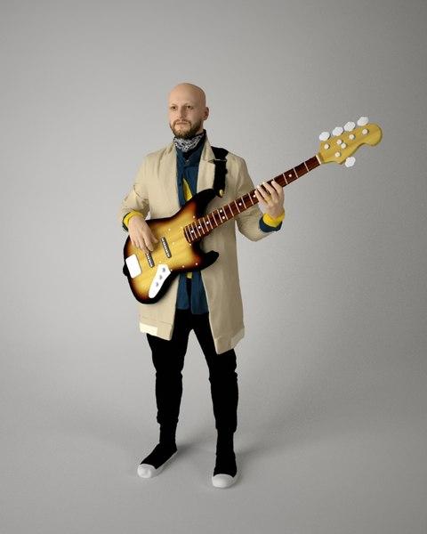 musician music 3D model