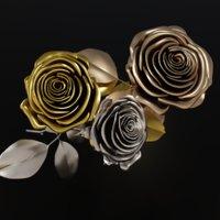 Metallic Roses