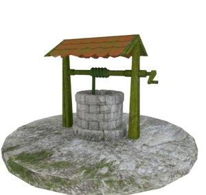 3D model well scene