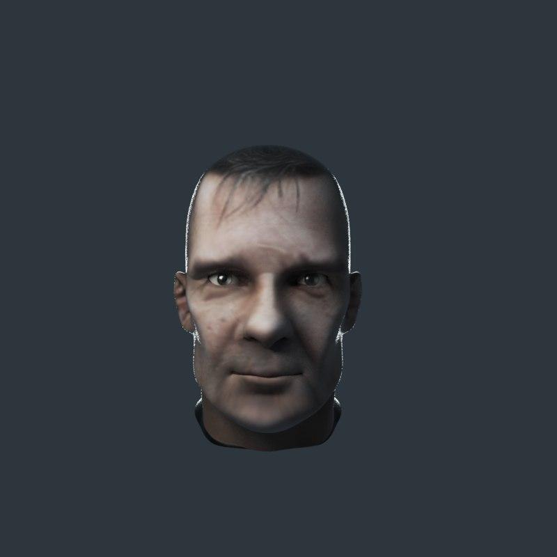 3D head characters people model