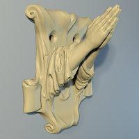 3D hanger hands