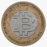3D model bitcoin pbr