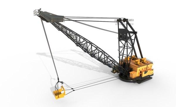 industrial draglines 3D