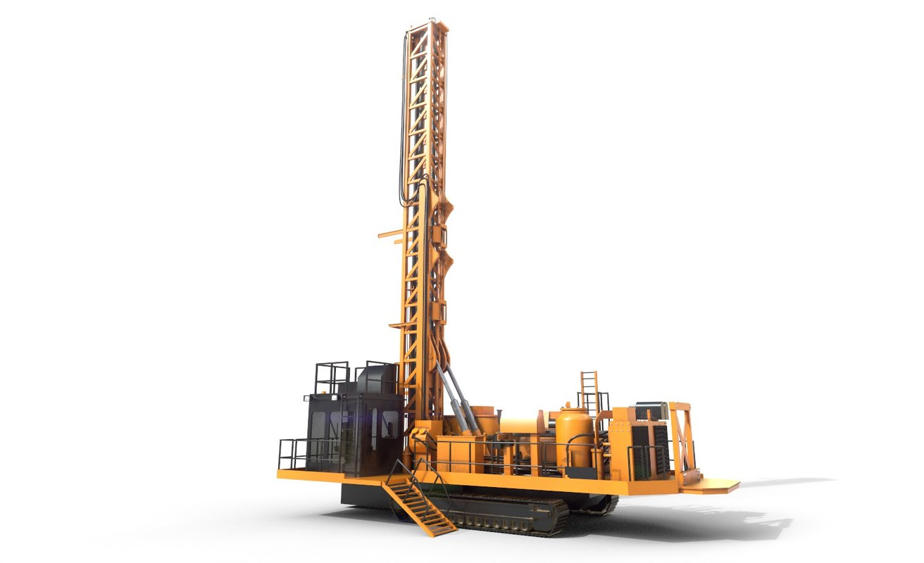 industrial drill 3D model