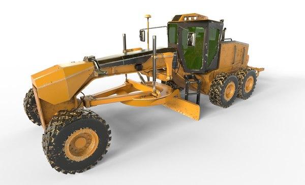 industrial grader motor 3D model