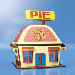 3D pie house model