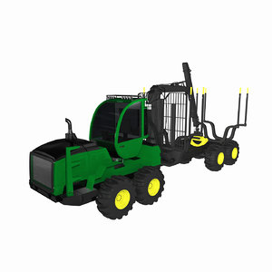 forestry forwarder 3D model