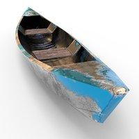 beaten canoe 3D model