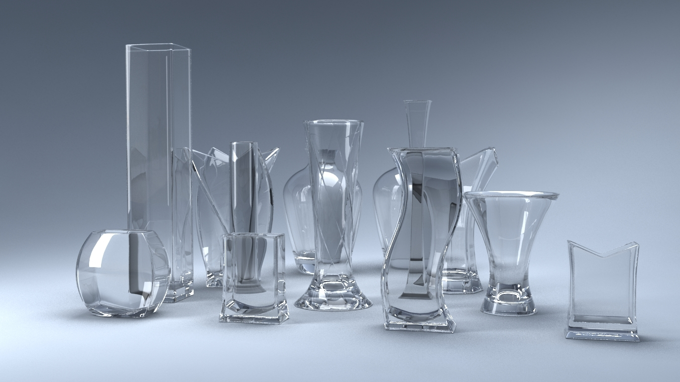 set 13 vases 3D