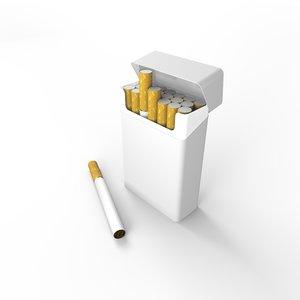 3D cigarette pack