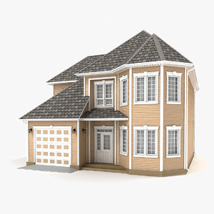 two-story cottage 74 3D model