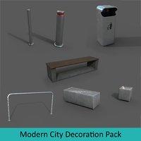 3D modern city decoration pack