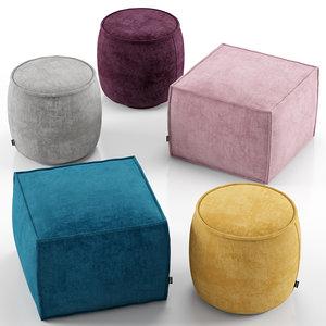 muffin ottoman soap 3D