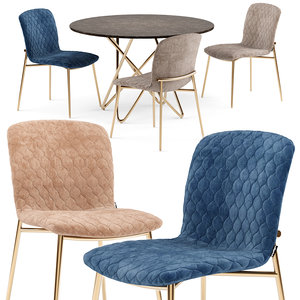love chair stellar table 3D