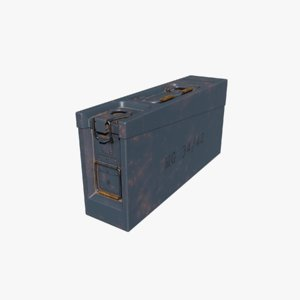 3D ammo box german ww2 model