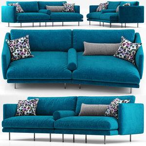 calligaris sofa mies 3D model