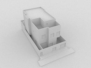 private villa building 3D