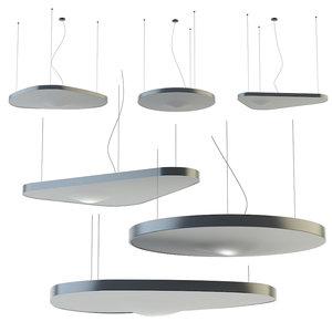 led fabric pendant lamp 3D model