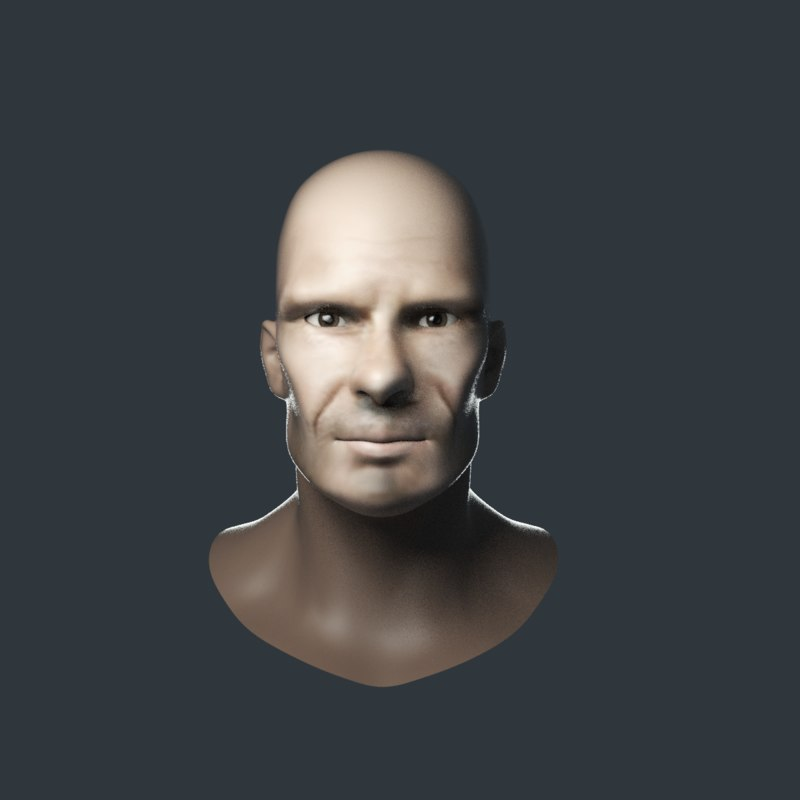 3D head characters people
