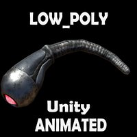 Worm Low-poly animated