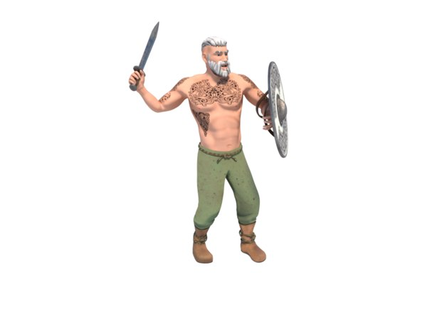 3D attack viking model