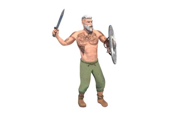 3D attack viking model