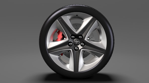 toyota prius 2017 wheel 3D model