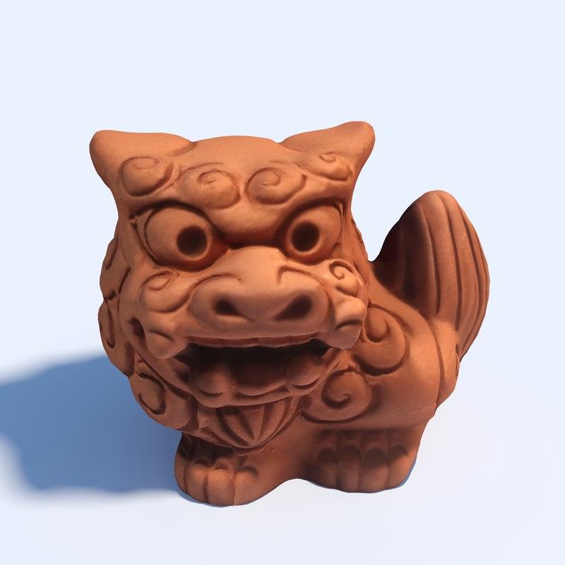 3D shisa - okinawan lion