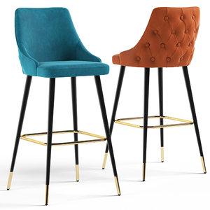 cult living lucia bar stool 3D