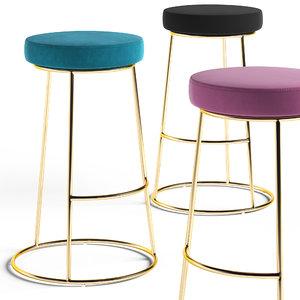 3D austen bar stool model