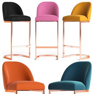 matteo bar stool 3D model