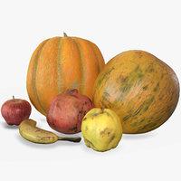 3D fruits scan model