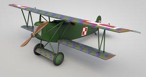 3D model german fokker d