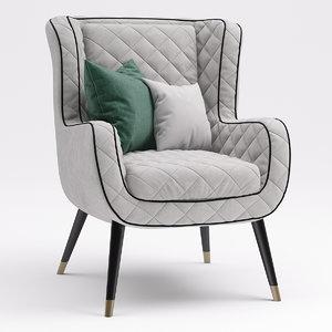 3D armchair chair baxter model
