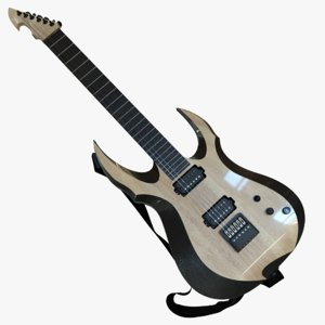 electric strat-style guitar cad 3D model