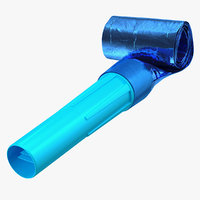 3D blue air whistle