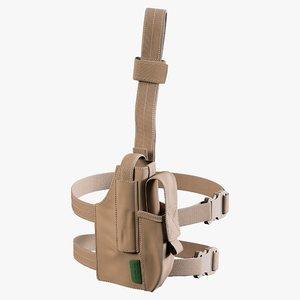 3D warrior drop leg holster model