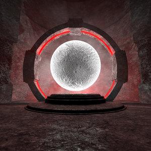 concepts moon exhibition center model