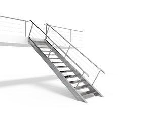 metal stair staircase 3D model