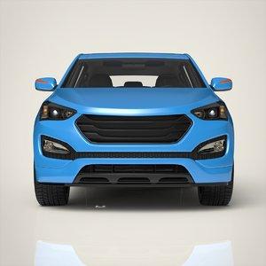 hatchback car materials 3D model