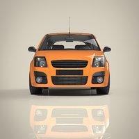 hatchback car materials 3D