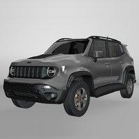 3D jeep renegade grey trailhawk