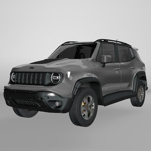 3D jeep renegade grey trailhawk