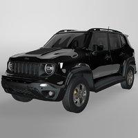 3D model jeep renegade black trailhawk