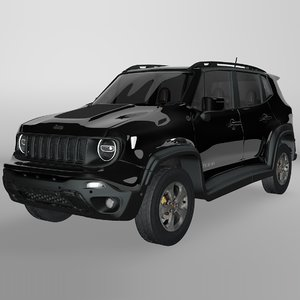 3D model jeep renegade black trailhawk
