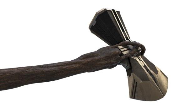 3D stormbreaker axe